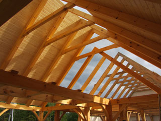 Green Mountain Post Amp Beam Timber Frame Home Lowell Vt